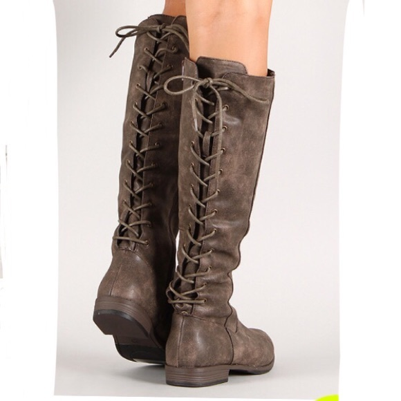 Rustic Brown Montana Lace Up Boots